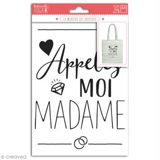 Stickers flex thermocollant - Appelez moi Madame