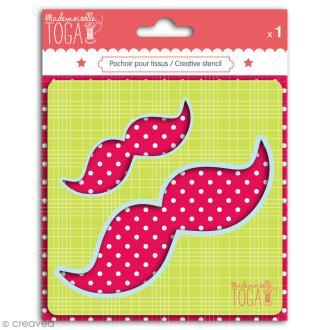 Gabarit pour appliqué - Moustaches - 13 x 4 cm