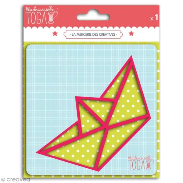 Gabarit pour appliqué - Bâteau origami - 11,5 x 6 cm - Photo n°1