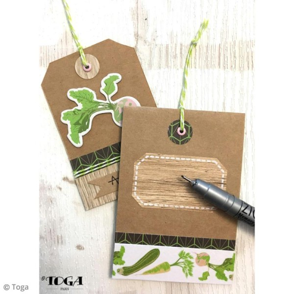 Masking tape Toga Oh my Green - Légumes - 3 rouleaux - Photo n°4