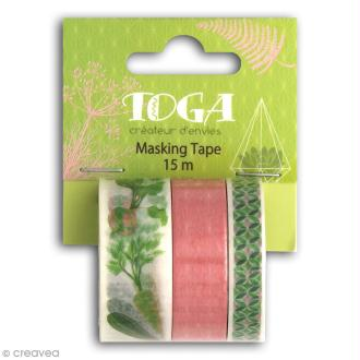 Masking tape Toga Oh my Green - Légumes - 3 rouleaux