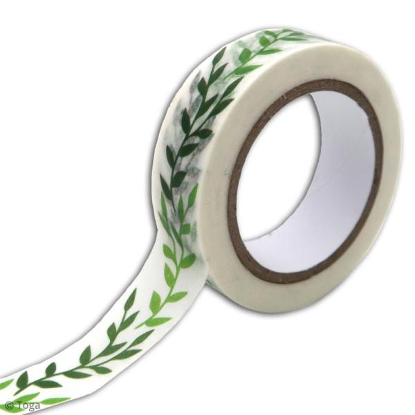 Masking tape Toga - Feuillage - 10 mètres - Photo n°2