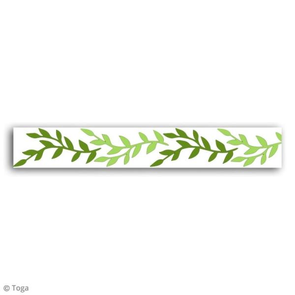 Masking tape Toga - Feuillage - 10 mètres - Photo n°3