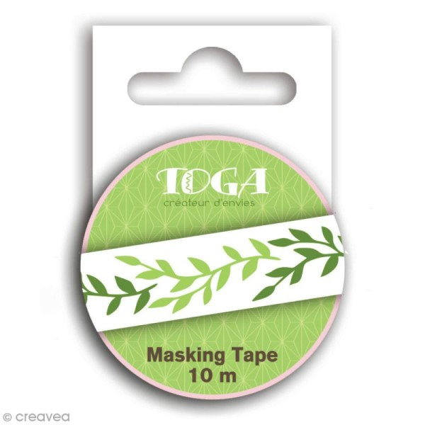 Masking tape Toga - Feuillage - 10 mètres - Photo n°1