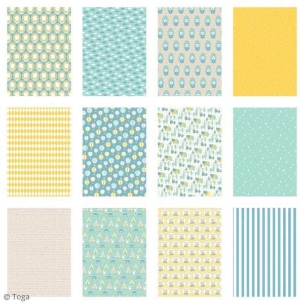 Papier scrapbooking Toga - Color factory - Léonard et Joséphine - Léonard - 48 feuilles A4 - Photo n°3