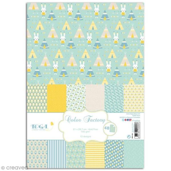 Papier scrapbooking Toga - Color factory - Léonard et Joséphine - Léonard - 48 feuilles A4 - Photo n°1