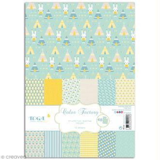 Papier scrapbooking Toga - Color factory - Léonard et Joséphine - Léonard - 48 feuilles A4