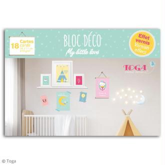 Bloc Déco cartes murales - My little love - 16 x 11 cm - 18 feuilles