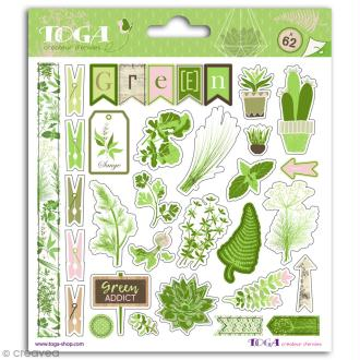 Stickers Toga - Oh my Green - 2 planches de 15 x 15 cm
