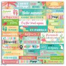 Stickers Mots Toga - Tropical Paradise - 1 planche de 15 x 15 cm - Photo n°2