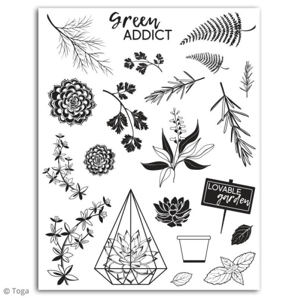 Tampon crystal Toga - Oh my Green - 21 pcs - Photo n°2