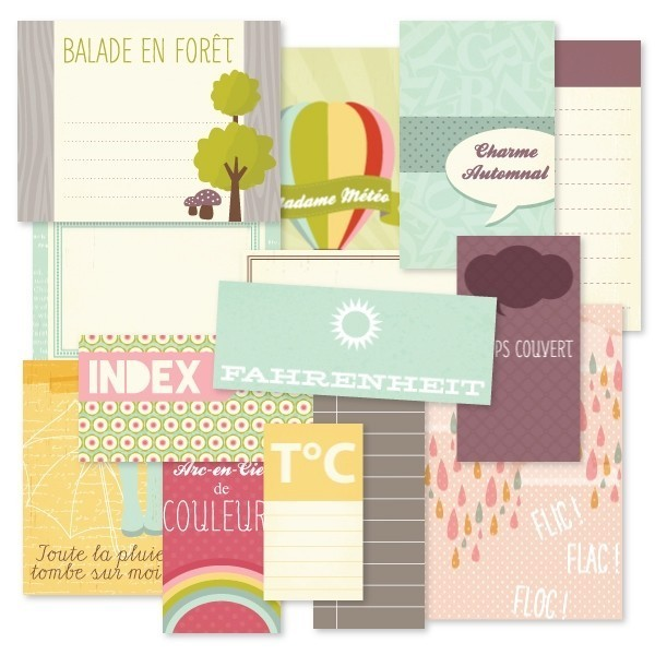 Etiquettes cartonnées flic flac floc - KESI'ART - Photo n°1