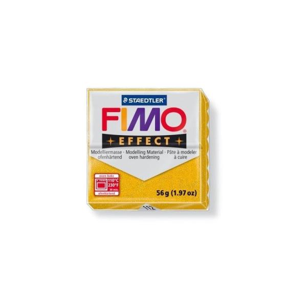 Fimo effect or pailleté 56g n°112 - Photo n°1