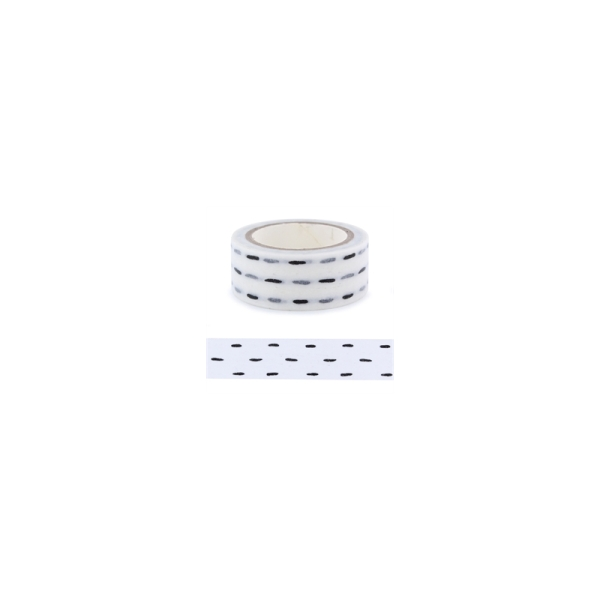 Masking tape tirets noirs La Fourmi 15mm x 5m - Photo n°1