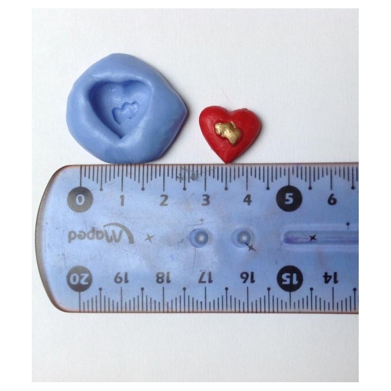 Moule silicone coeur 1cm - Photo n°1