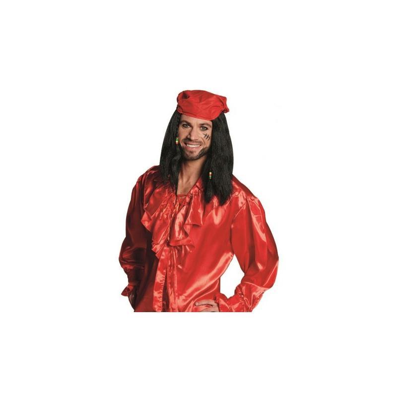 626e22e10194 Perruque pirate homme avec bandana rouge - Perruques adulte - Creavea