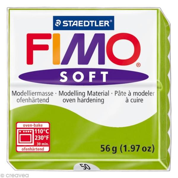 Pâte Fimo soft Vert pomme 50 - 56 gr - Photo n°1