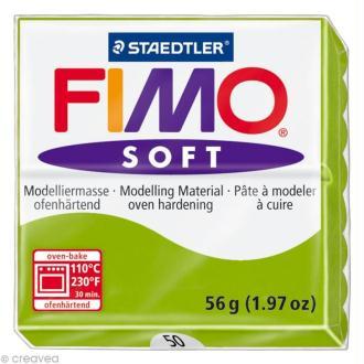 Fimo soft Vert pomme 50 - 56 gr