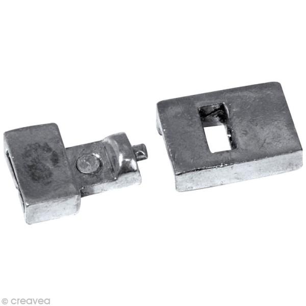 Fermoir bracelet magnétique Argenté 2,5 x 1,2 cm - Photo n°2