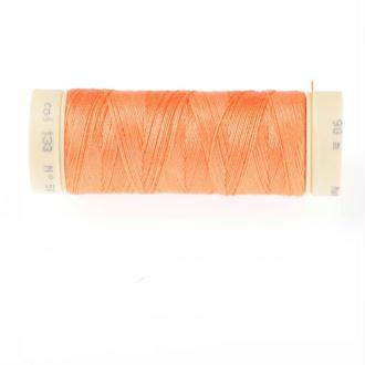 Fil coton 90m orange n°133 nectarine - Qualité professionnelle