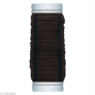 Fil métallique Brun foncé spécial art floral 0,3 mm - 100 m