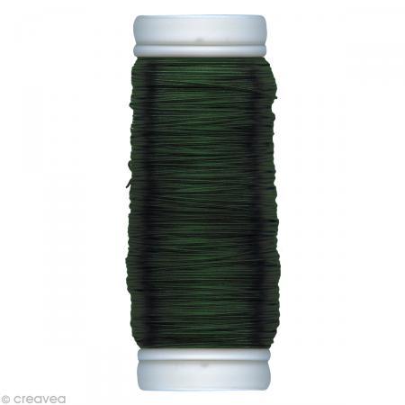 Fil métallique Vert foncé spécial art floral 0,3 mm - 100 m - Photo n°1