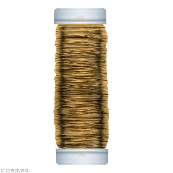 Fil métallique laiton spécial art floral 0,30 mm - 80 m - Photo n°1