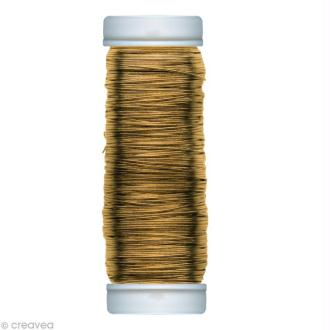 Fil métallique laiton spécial art floral 0,30 mm - 80 m