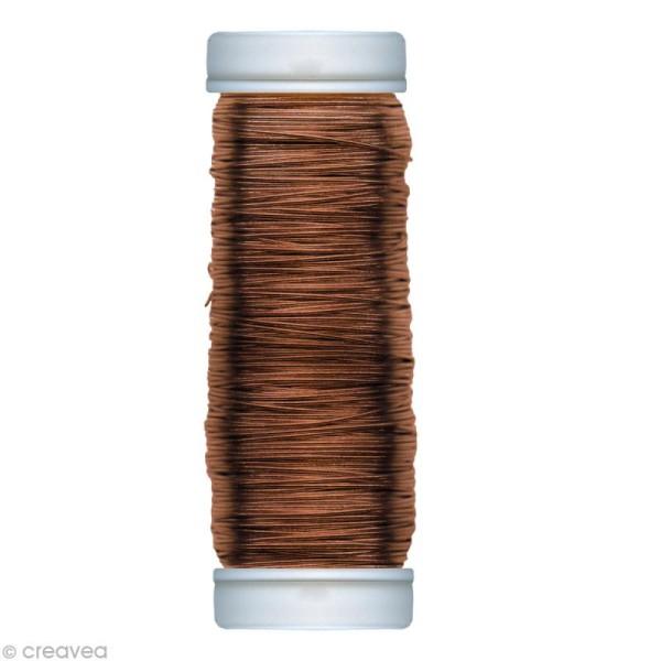 Fil métallique cuivre spécial art floral 0,25 mm - 50 m - Photo n°1