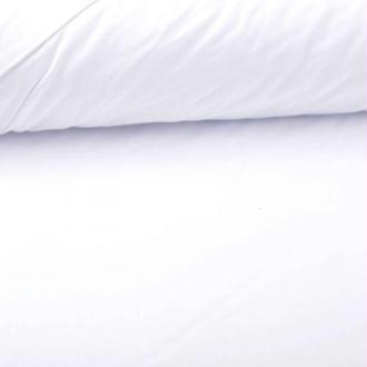 Tissu popeline coton uni - Blanc - PAR 50CM