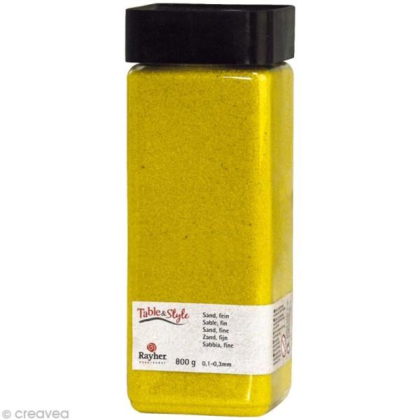 Sable décoratif fin jaune soleil 800 g - Photo n°1