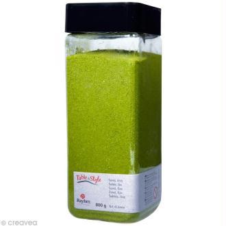 Sable décoratif fin vert mai 800 g