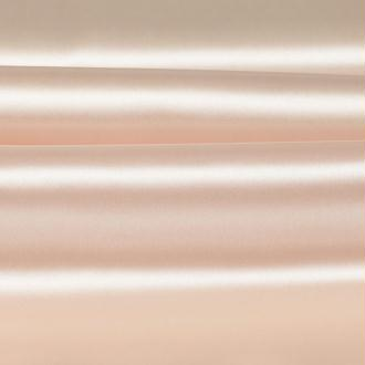 Tissu satin uni beige angora - Largeur 150cm - Vendu par 50cm