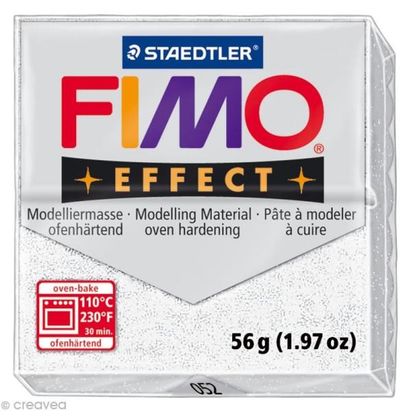 Pâte Fimo Effect Blanc Métallique 052 - 56 gr - Photo n°1