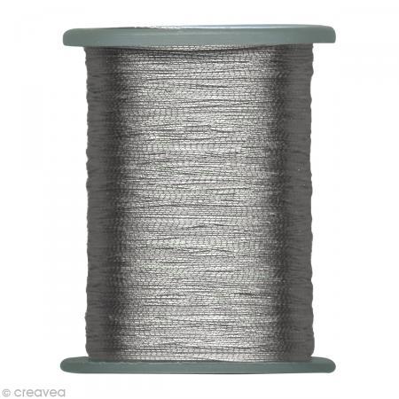 Fil argenté 50 m x 0,2 mm