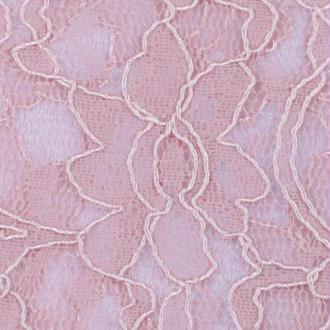 Tissu dentelle fleurie rose nostalgia - Largeur 140cm - Vendu par 50cm