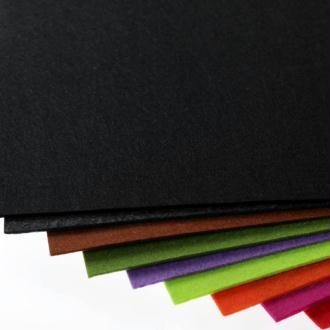 Plaque de feutrine épaisseur 3mm - 25cm x 30cm - Noir