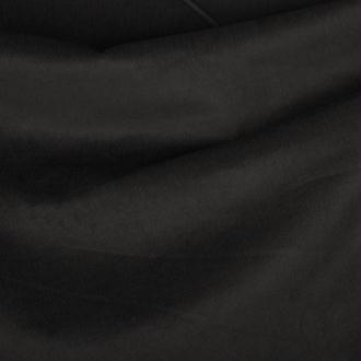 Tissu velours uni milleraies   - Noir - Largeur 135cm - Vendu par 50cm