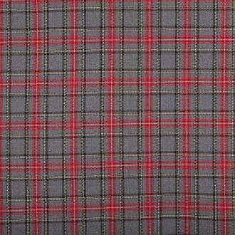 Tissu petit écossais tartan classic  - Gris & rouge - Largeur 144cm - Vendu par 50cm