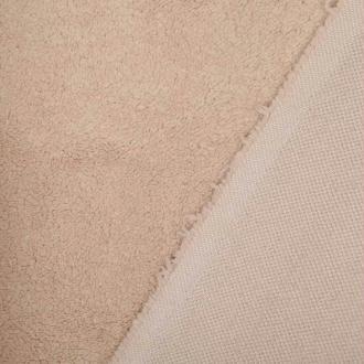 Tissu petite fourrure doudou  - Beige- Par 50cm