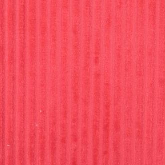 Tissu minky à rayures  - Rouge corail- Par 50cm