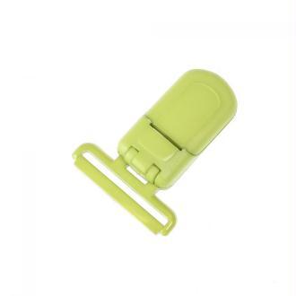 Pince tétine ou bretelle plastique - Vert