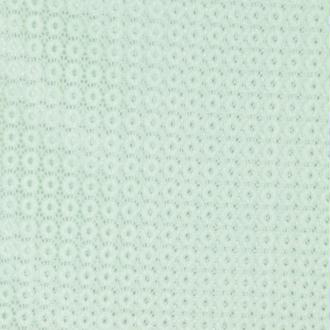 Tissu dentelle rond - Vert - Largeur 140cm - Vendu par 50cm