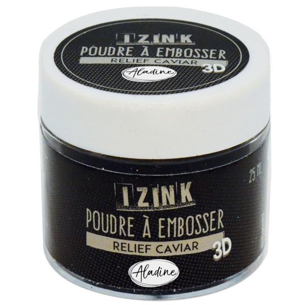 Poudre à embosser noir 25 ml - Photo n°1