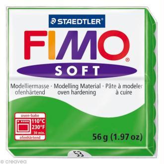 Pâte Fimo soft Vert Tropical 53 - 56 gr