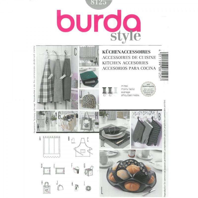 Patron d 39 accessoires de cuisine burda 8125 patron for Articles de cuisine de ricardo