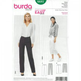 Patron de pantalon & pantacourt femme, Burda 6681