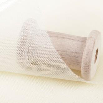 Tissu tulle écru - Largeur 265 cm - Largeur 280cm - Vendu par 50cm