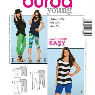 Patron de pantalon leggings femme, Burda 7382