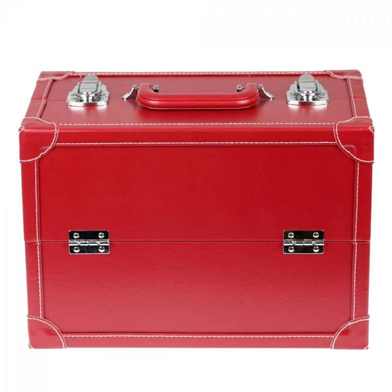Coffret couture 36 cm rouge multi tages taille l for Miroir pour agrandir une piece